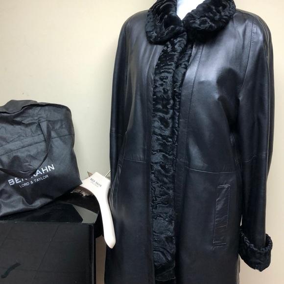 041a7110d6e7 Ben Kahn Jackets & Coats | Leather Persian Lamb Rabbit Jacket | Poshmark